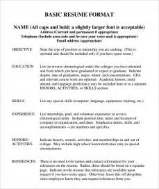 should you include page numbers on a resume basic resume template 51 free sles exles format free premium templates