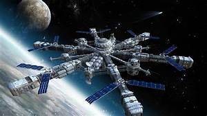 outer space international space station concept art ...