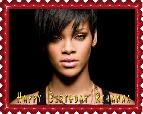 Rihanna 2 Edible Cake & Cupcake Topper  Edible Prints On