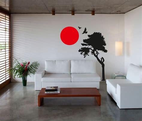 japanese wall design wall art sticker decal vinyl japanese oriental tree sunset ebay