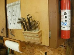 homemade allen wrench holder homemadetoolsnet