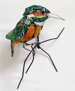 Birds made from recycled metal scraps by barbara franc for Birds made from recycled metal scraps by barbara franc