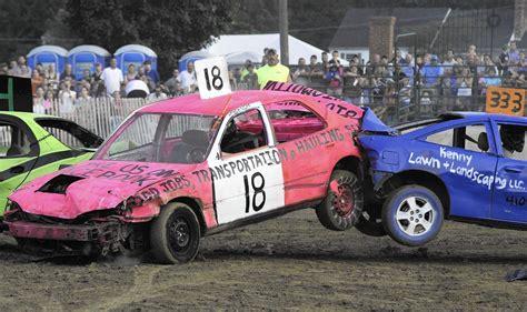 Cars Crash And Burn At 4-h Fair's Demolition Derby