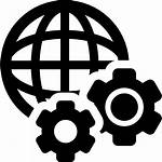 Icon Global Technology Settings Icons Gear Globe