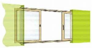 Fenetre facile baie coulissante a galandage en bois 1 for Porte fenetre coulissante galandage