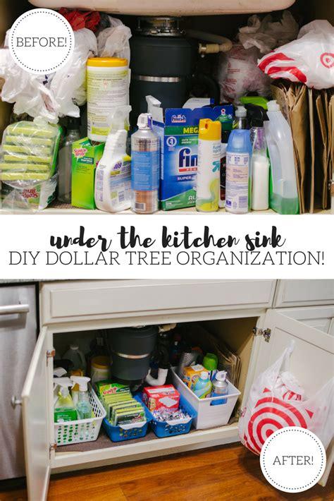 Kitchen Organization Dollar Store by The Kitchen Sink Organization Diy By M