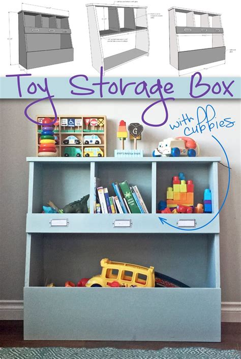 toy storage box  cubbies   home organized