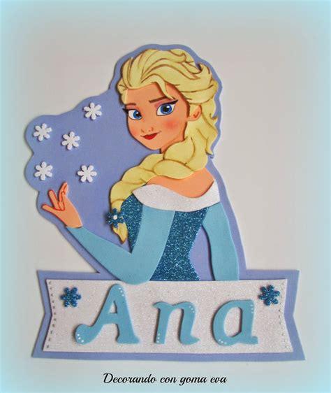 Decorando con goma eva: Cartel para la puerta princesa