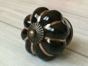 black pumpkin knobs dresser drawer pulls handles porcelain