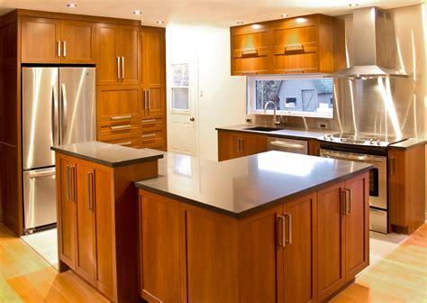 armoires de cuisine qu饕ec armoire de cuisine en bois erable maison moderne