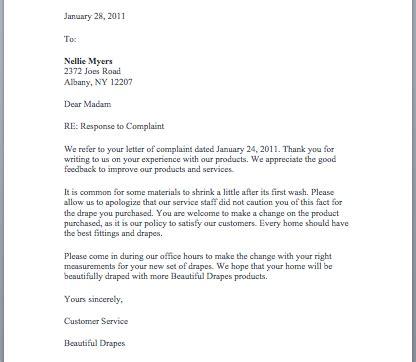 complaint response letter smart letters