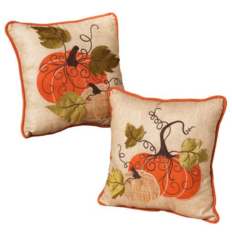 fall throw pillows 14 in fabric harvest thanksgiving pillows set of 2