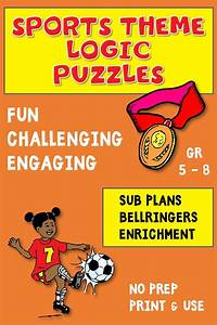 Logic Puzzle Bundle Sports Theme For Critical Thinking