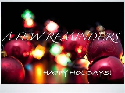 Holiday Reminders Reminder Mlink