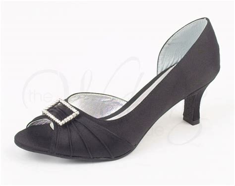 Christina Z031 Black Evening Shoes By Lexus (wider Fit