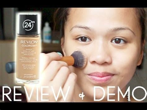 Review + Demo Revlon Colorstay 24 Hours Foundation Youtube