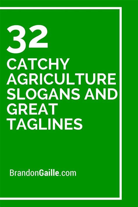 catchy agriculture slogans  great taglines catchy