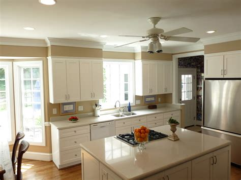 kitchen crown molding kitchen traditional  ceiling fan