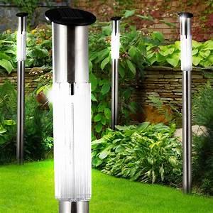 Lampen Für Garten : 6er set solar steck leuchten led garten weg beleuchtung edelstahl erdspie au en lampen ip44 ~ Eleganceandgraceweddings.com Haus und Dekorationen