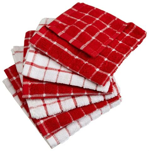 Kitchen Towels by 6 Cotton Machine Washable Absorbent Kitchen