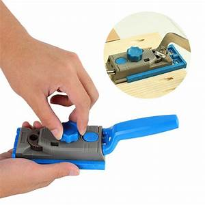 Mini Hole Drill Guide Wood Doweling Hole Saw Master System