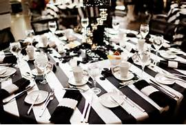 Table Decorations Black And White Theme Black And White Project Wedding Blog Part 2