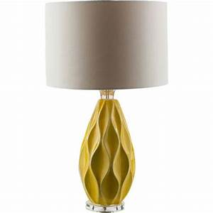 bethany yellow one light table lamp surya accent lamp With ollie table lamp yellow