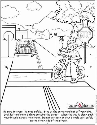 Accident Diagram Blank Safety Coloring Street Crossing