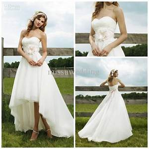 best selling strapless short front long back organza lace With short in the front long in the back wedding dresses