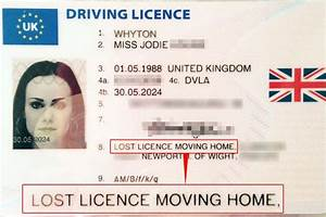 woman39s new driving licence listed address as quotlost With apply for driving license lost