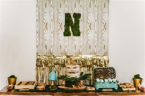 rustic woodland themed graduation party  tampa fl
