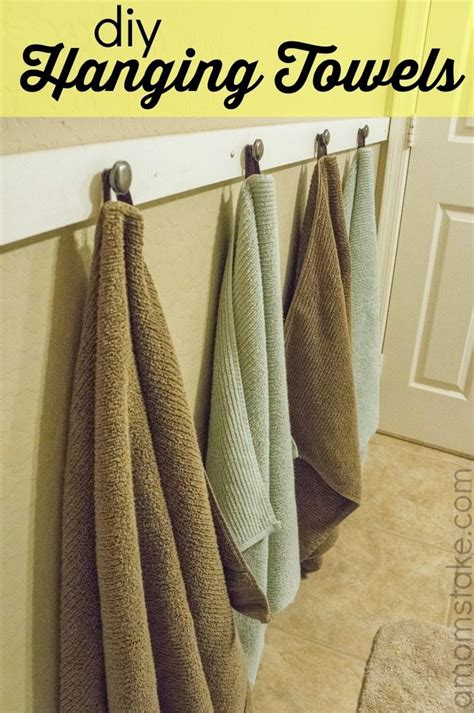 Where To Hang Towels In Small Bathroom by Diy Hanging Bathroom Towels A S Take