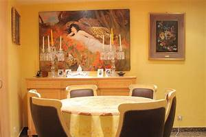 Decoration salle a manger jaune for Salle À manger contemporaineavec tableau salle À manger