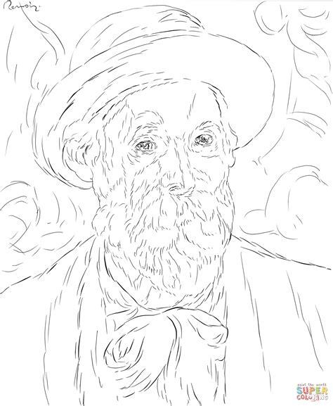 Pierre Auguste Renoir Self Portrait Coloring Page Free