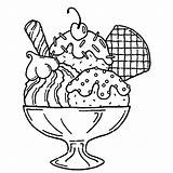 Sundae Ice Cream Drawing Coloring Pages Getdrawings sketch template