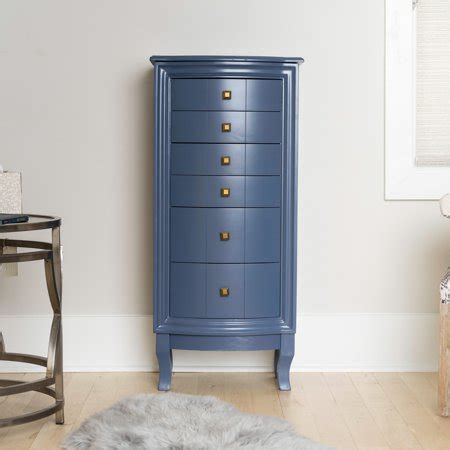 Blue Jewelry Armoire by Hives Honey Natalie Blue Jewelry Armoire Jewelry Stand