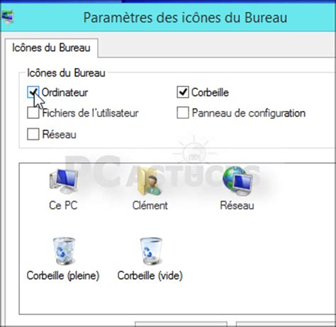 icones bureau windows 8 retrouver l 39 icône ordinateur sur le bureau windows 8