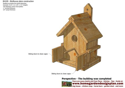 home garden plans bh bird house plans construction