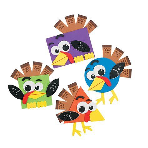 Shape Turkey Craft Kit, Coloring Crafts, Crafts For Kids
