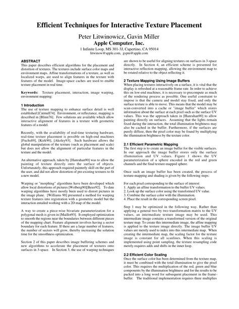 (PDF) Efficient techniques for interactive texture placement