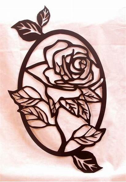 Scroll Saw Patterns Oval Wood Burning Rosa