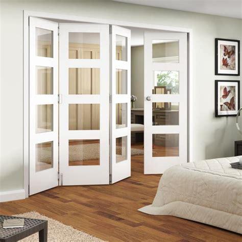jeldwen shaker primed  light internal folding doors  doors
