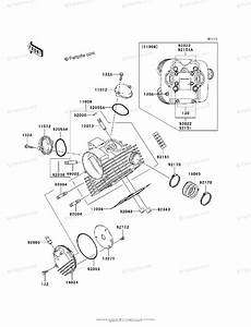 Kawasaki Atv 2003 Oem Parts Diagram For Cylinder Head
