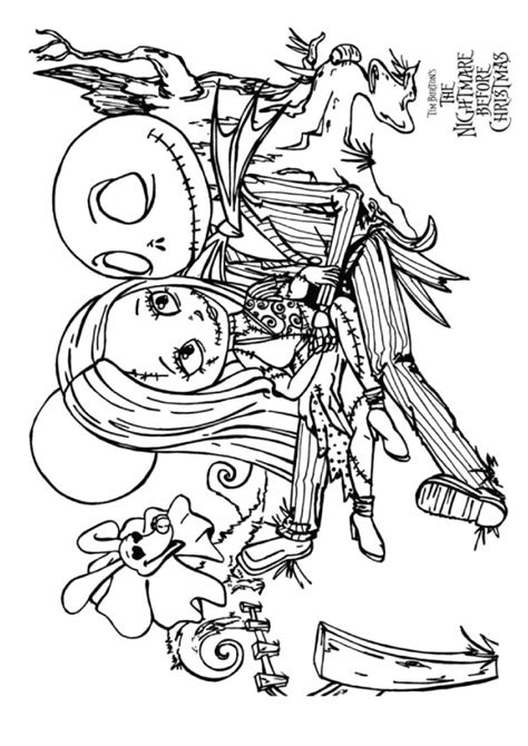 nightmare  christmas coloring pages books    printable