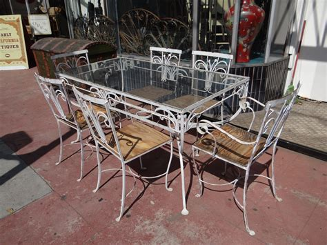 Vintage Wrought Iron Porch Furniture by Salterini 1928 1953 Wrought Iron Outdoor Patio Furniture