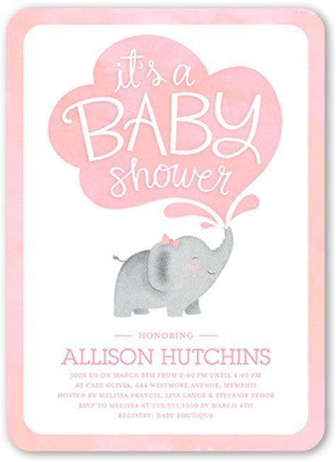 elephant girl  custom baby shower invitations