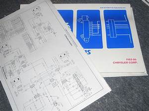 1985 1986 Chrysler Lebaron Gts Dodge Lancer Wiring Diagrams Schematics Sheets