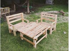 DIY Pallet Outdoor Furniture Set – 101 Pallets