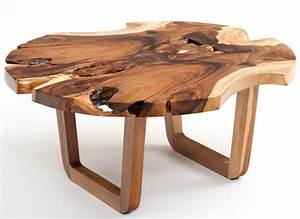 contemporary rustic coffee tables live edge solid wood With modern natural wood coffee table