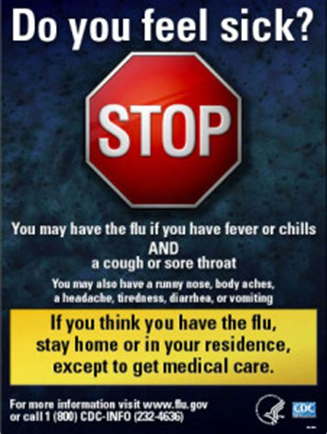 If You're Sick Stay Home